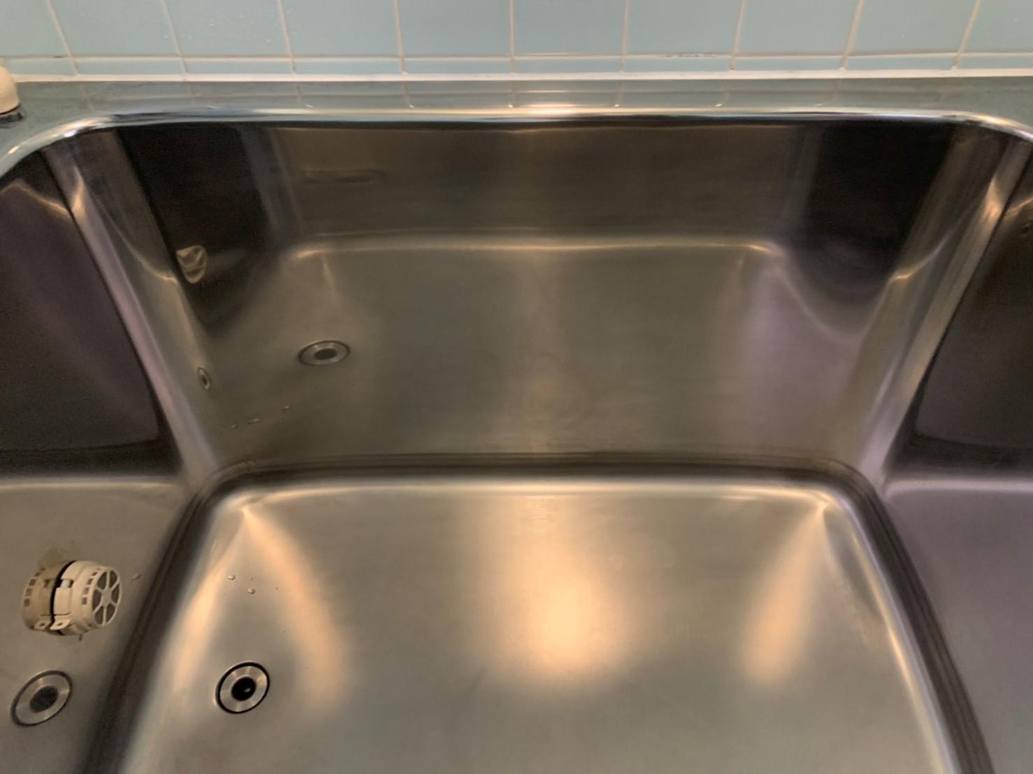 お風呂(浴室)の清掃&水回りコーティングを横浜市中区南本牧で行いました。【施工事例46】